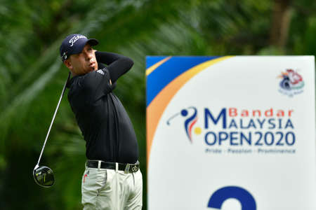 SHAH ALAM, MARCH 5 : Miguel Carballo of Argentina, pictured during round 1 of the Bandar Malaysia Open 2020 at Kota Permai Golf & Country Club, Shah Alam, Selangor, Malaysia, on March 5, 2020.