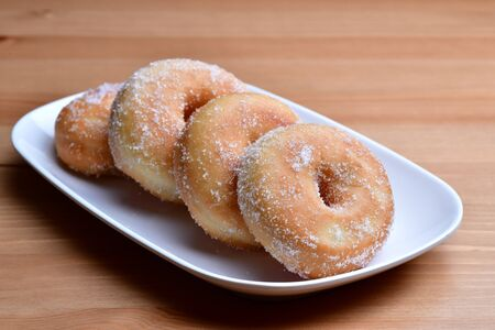 Close up of Homemade Sweet Doughnut Banque d'images