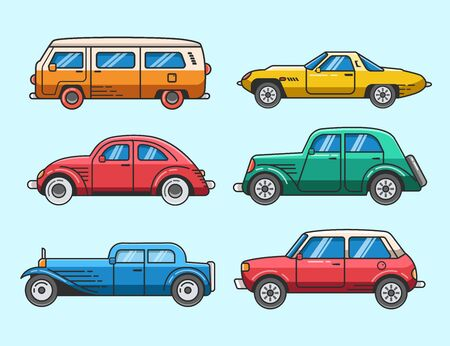 Set of classic car icon and elements Banque d'images - 137647234