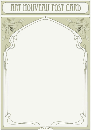 Art Nouveau Frame with space for text Stock Vector - 8490543