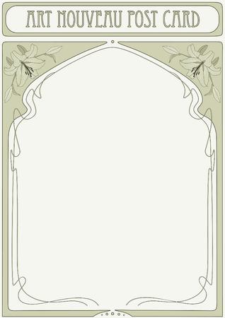 stile liberty: Cornice Art Nouveau con spazio per il testo