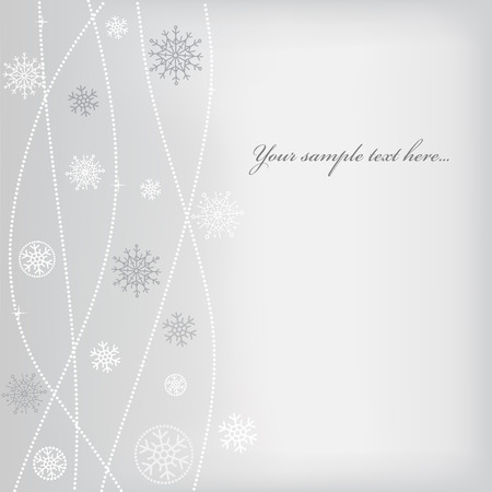 Christmas (New Year) design with snowflake. Space for text Vector
