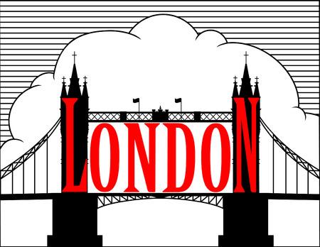 built tower: Londres. Puente de la torre. Vectores