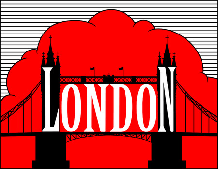 tower bridge: London. Tower bridge. Red and black.