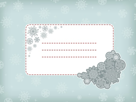Christmas (New Year) template frame  with snowflake. Stock Vector - 10970190