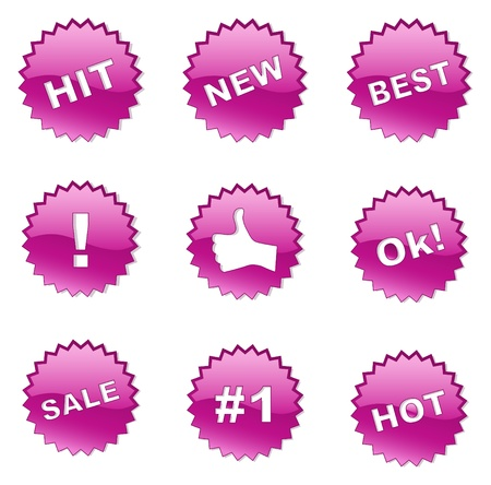price hit: Set of selling badges (buttons) for websites and print