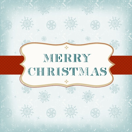 Template old Christmas card Stock Vector - 11281980