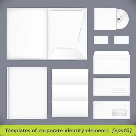 Set of templates corporate identity. vector illustration 免版税图像 - 12306757
