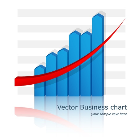 Vector business chart (diagram).