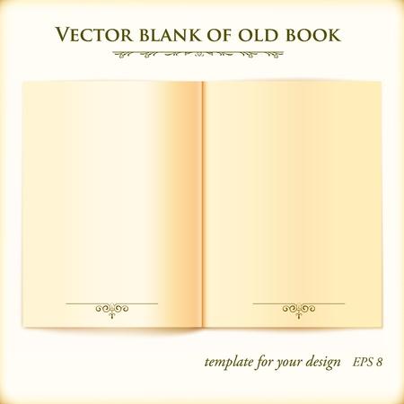 copertina libro antico: Aprire vecchio modello illustrazione di libri per la progettazione Vettoriali