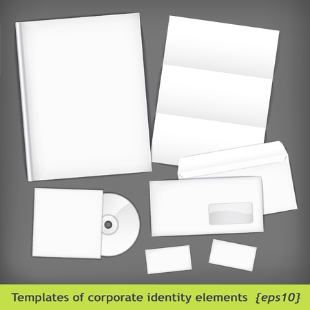 Set of templates corporate identity Stock Vector - 12490658