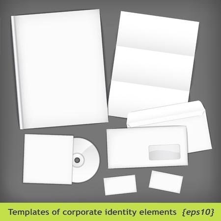 provexemplar: Uppsättning av mallar organisationsnummer Illustration