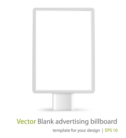 Vector blank advertising billboard on white background  Eps10 Illustration