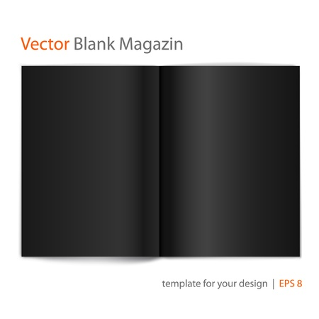 open magazine: Vector blank magazine on white background  Template for design  Illustration
