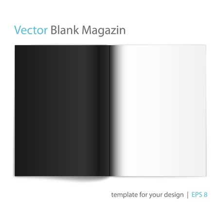 Vector blank magazine on white background  Template for design  Stock Vector - 14125319