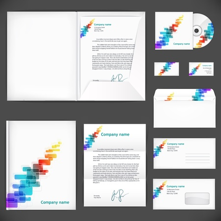 Corporate identity  Universal business style Illustration