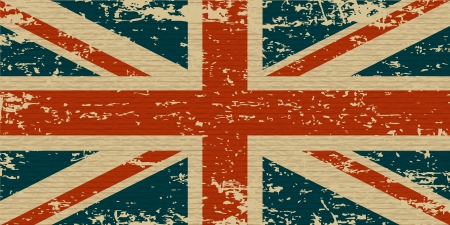 bandera de reino unido: Reino Unido sucia bandera La bandera de Reino Unido, con una textura para usted