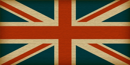 Flag of United Kingdom on old paper Stock Vector - 14562405