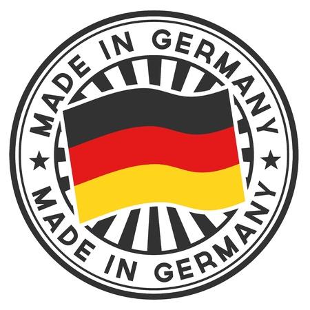 сделанный: Штамп с флагом Германии Сделано в Германии