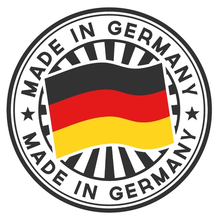 made in: Stempel met vlag van de Duitsland Made in Germany Stock Illustratie