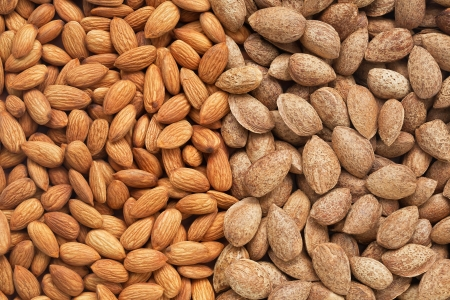 Healthy food, background  Almonds