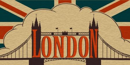 london tower bridge: London, Tower Bridge and the flag of the UK