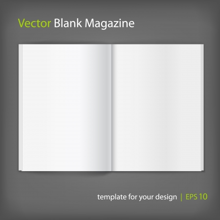 publisher: Blank magazine on grey background  Template