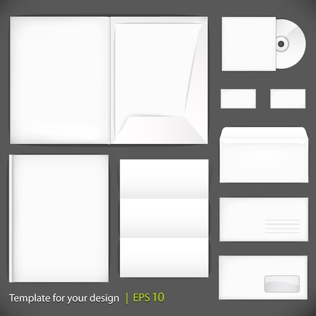 Set of templates corporate identity