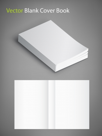 blank book cover: blank book cover Illustration