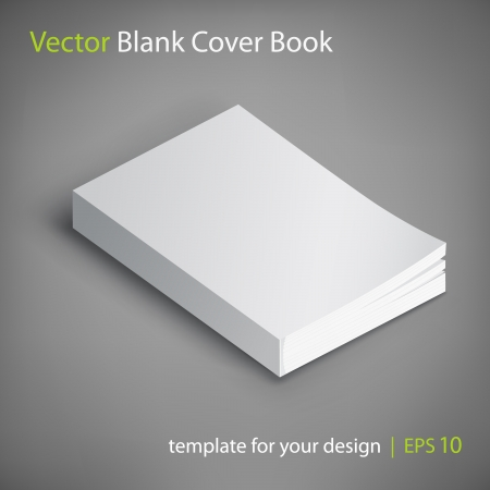 cover book: blank book cover Illustration