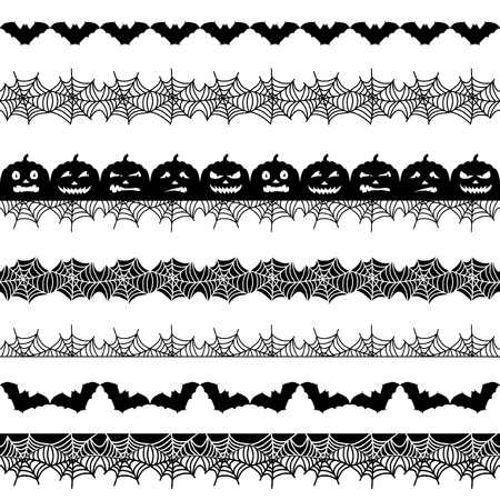 Halloween seamless border Illustration