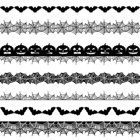 Halloween seamless border 矢量图像