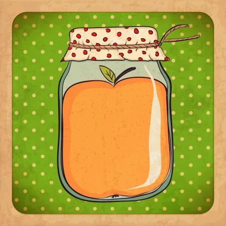 jam jar: Apple jam   Vintage cardboard
