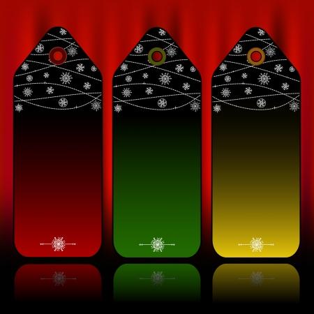 Christmas tags Stock Vector - 16418519