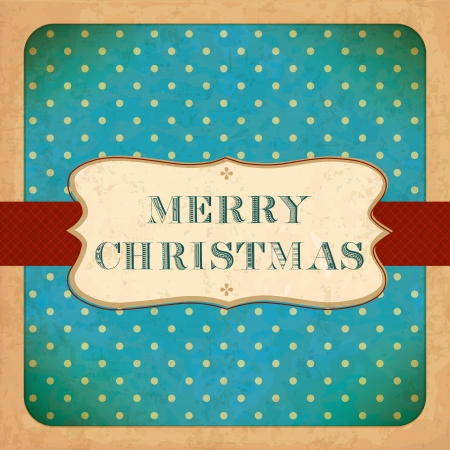 Old Christmas Card  Vintage font Stock Vector - 16418522