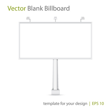 Vector blank Billboard Illustration