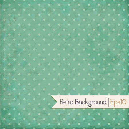 Vintage background  Polka dot Vector