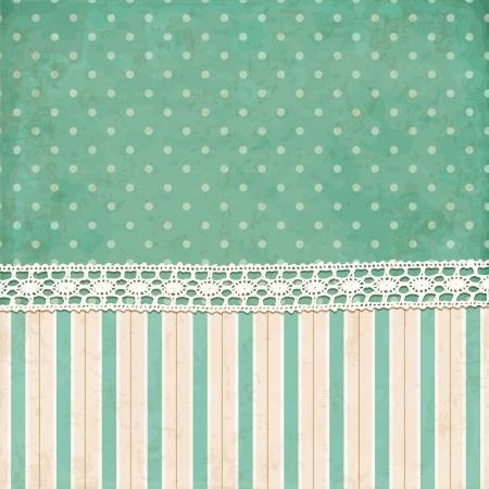 Vintage background  Polka dot and strips wallpaper Vector
