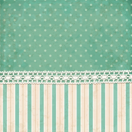'retro styled': Vintage background  Polka dot and strips wallpaper