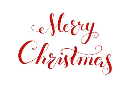 Merry Christmas handwriting lettering  Calligraphy