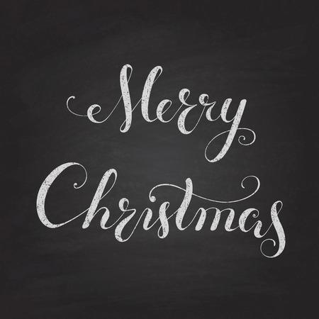 Christmas Chalkboard pattern  Calligraphy lettering Merry Christmas Illustration