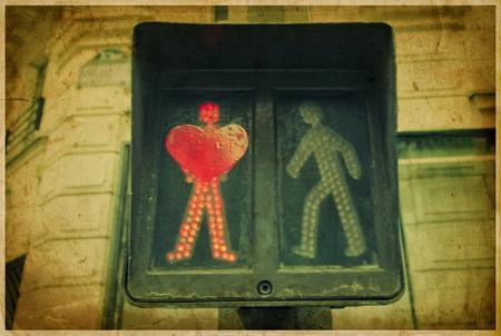 Concept street art in Paris  love  Retro styled  photo