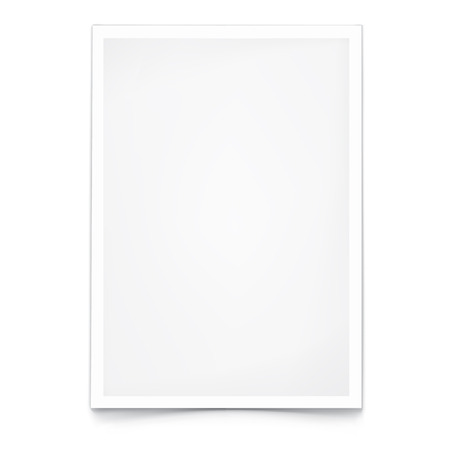 Blank Paper A4. On white with shadow. Template for your design.