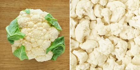 Cauliflower  Healthy food background