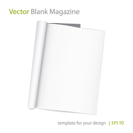 Vector blank page of magazine on white background