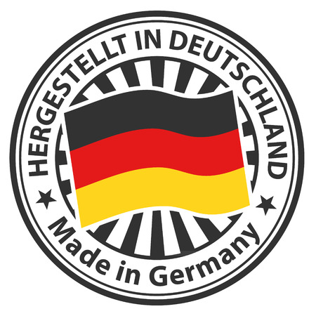 made to order: Sign Made in Germany. Hergestellt in Deutschland Illustration