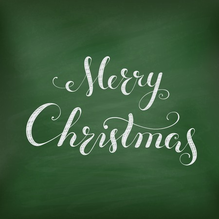 winterberry: Christmas Chalkboard with lettering.