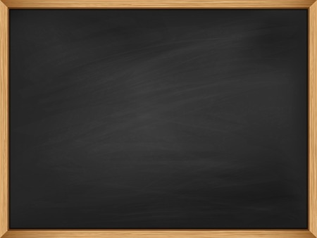 Empty blackboard with wooden frame.  Illustration