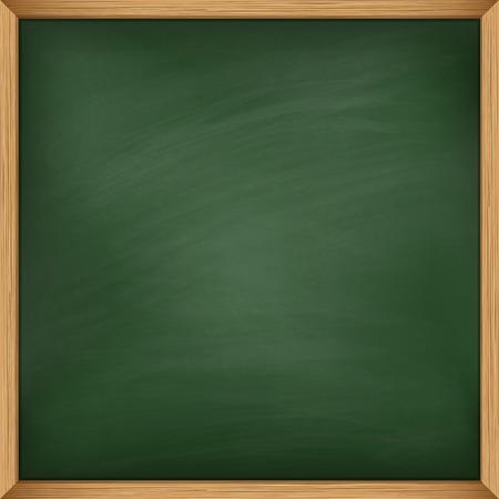 pizarron: Pizarra verde vacía con marco de madera. El uso de puré
