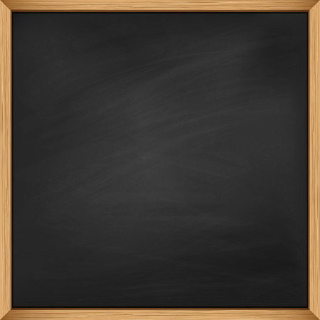 Empty blackboard with wooden frame. Using mash Çizim